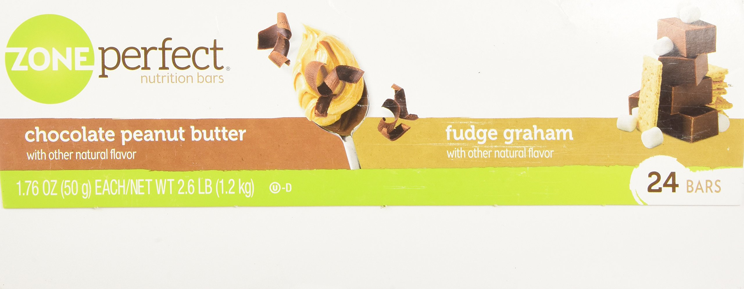 ZonePerfect Nutrition Bars, Fudge Graham/Chocolate Peanut Butter Combo. 1.76 OZ, 24 Bars by Zone Perfect (Image #5)