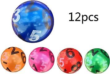 12 Pcs Juguete De Pelota De Playa De Balon 22CM (Número ...