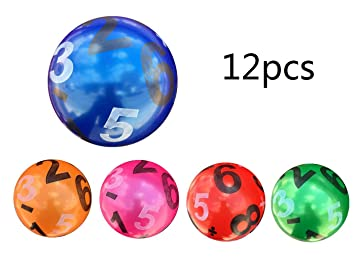 12 Pcs Juguete De Pelota De Playa De Balon 22CM (Número): Amazon ...