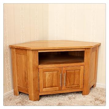 Thinething 11m Solid Wood Riv Corner Tv Dvd Cabinet Tv Stands Oak