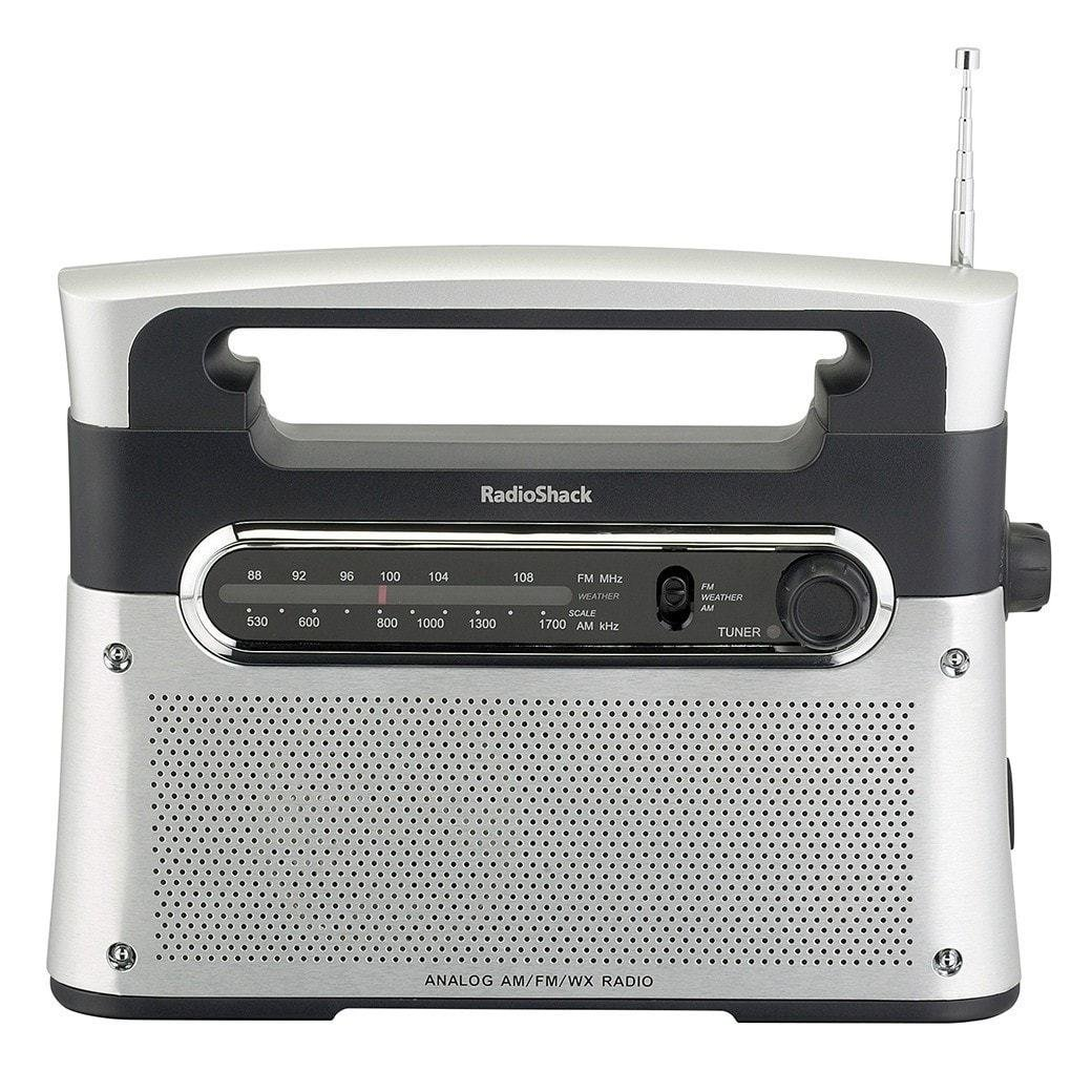 RadioShack Portable Analog Tuning AM/FM/Weather Tabletop Radio