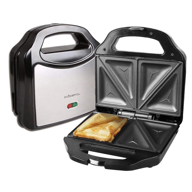 Aigostar Rubik 30JVU - Appareil 3 en 1 : grill, gaufrier et appareil à sandwichs. Plaques antiadhésives et interchangeables. Grande puissance de 750W, thermostat automatique. Design exclusif.