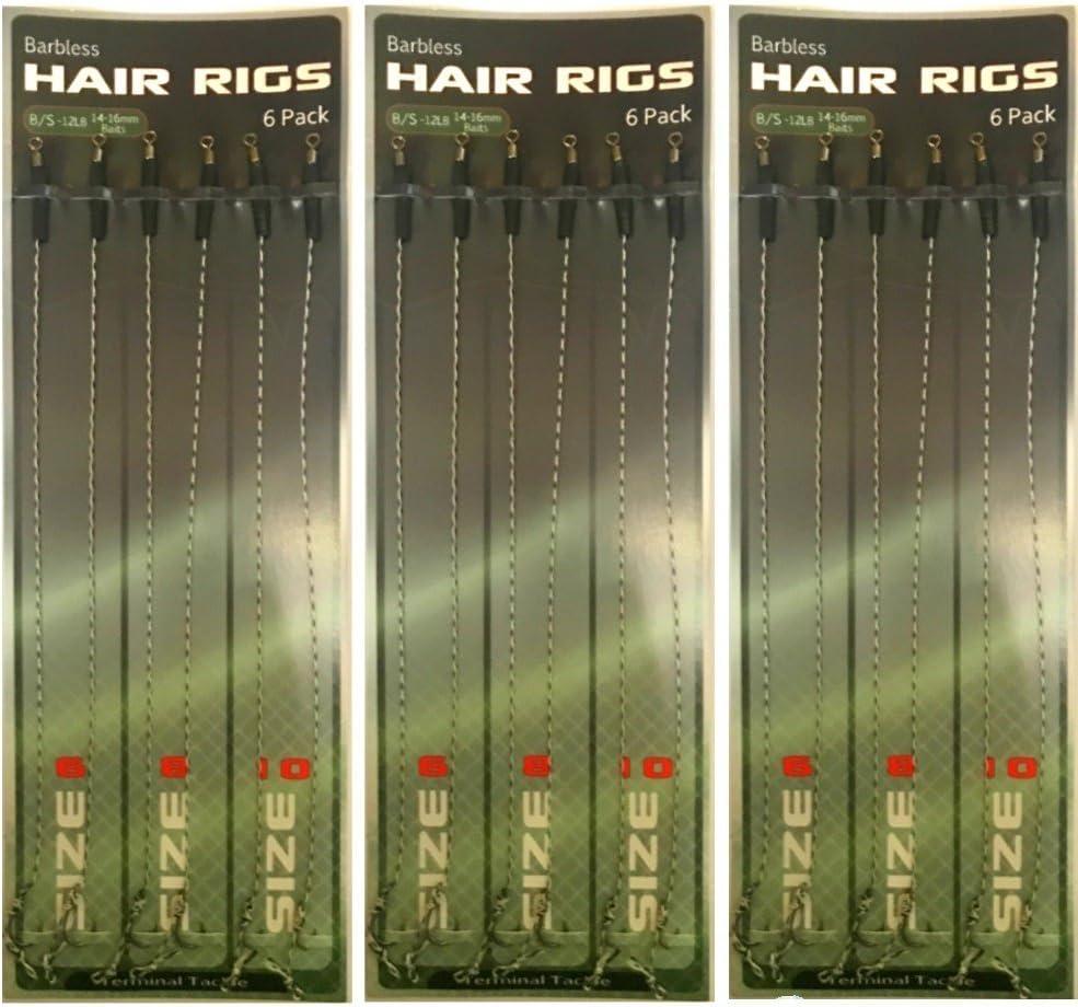 3/Tailles Milepet-Fishing La P/êche /à la Carpe Cheveux Bas de Ligne Bouillettes /à la Carpe Bas de Ligne pour p/êche /à la Carpe Accessoires 12/Pcs