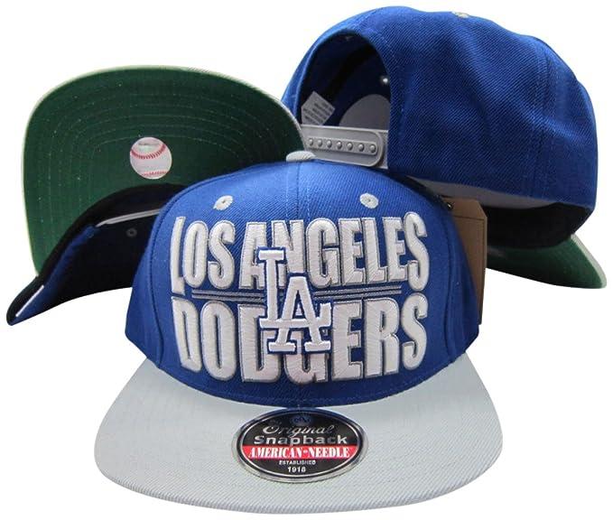 8eb08a44 Amazon.com: American Needle Los Angeles Dodgers Block Two Tone ...