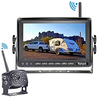 Rohent HD 960P Digital Wireless Backup Camera with Monitor Kit High-Speed Observation System for RVs,Trucks,Trailers,5th Wheels 7'' Display IP69K Waterproof Super Night Vision: Electronics