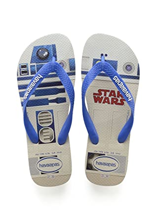 59228f322 Image Unavailable. Image not available for. Color  Havaianas Star Wars Flip  Flops - White Blue UK 1213