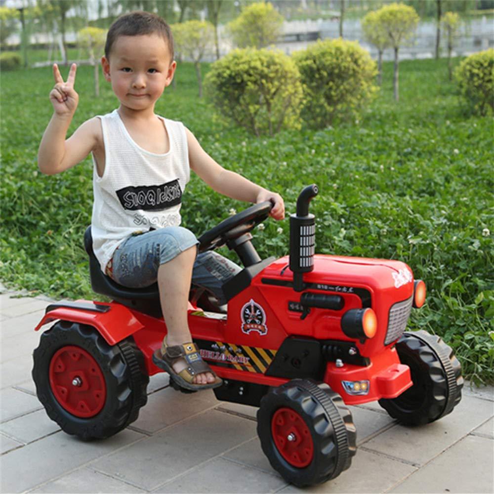 TONGSHAO Vehículos de Granja/Juguetes para Coches / Tractor eléctrico de Cuatro Ruedas simulado Que los niños Pueden Montar en un Carro de Juguete (Pedal ...