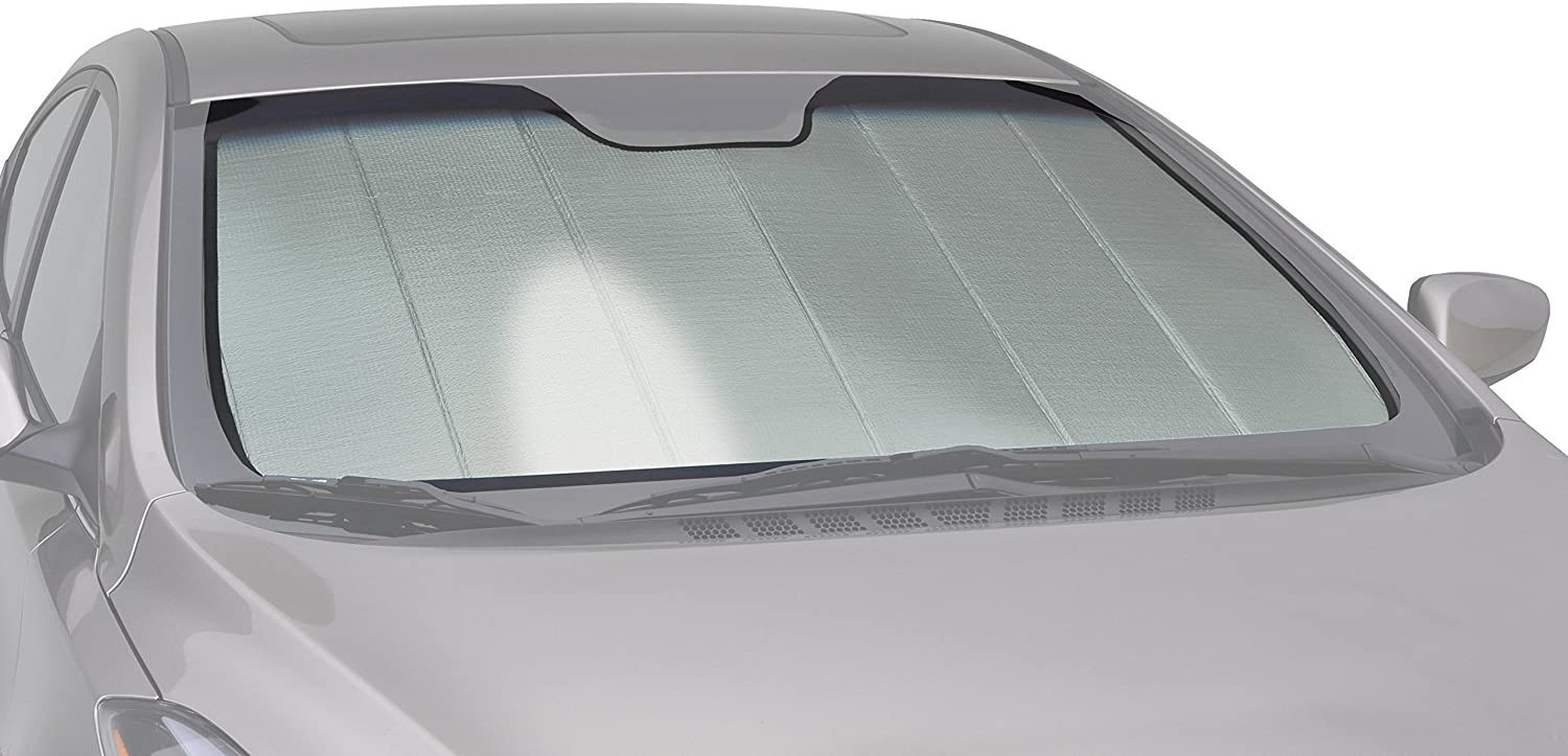 Intro-Tech SU-34A-P Silver w/Eyesight Custom Fit Premium Folding Windshield Sunshade for Select Subaru Forester Models