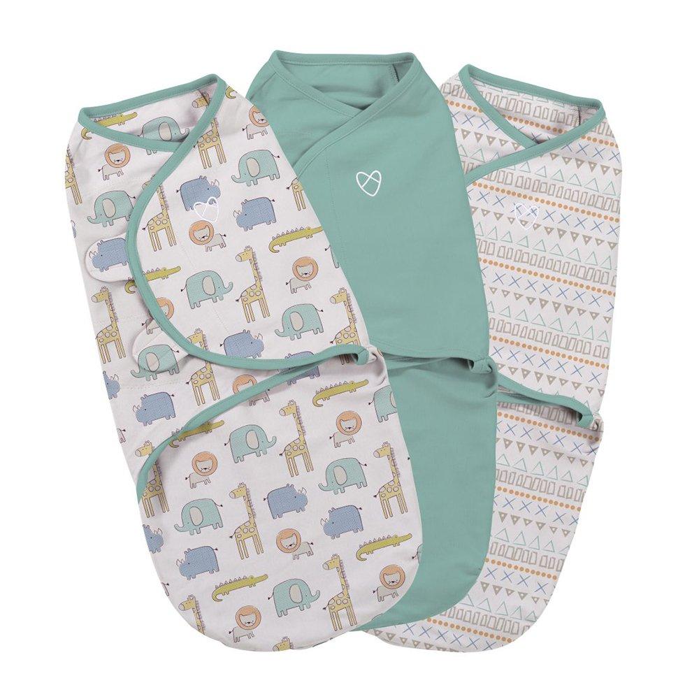 Summer Infant Sketchy Safari 3pk Surround Blanket–Small 0012914559864