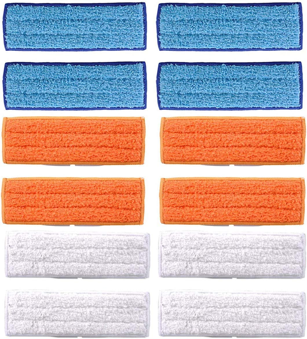LICORNE Mop Heads Washable Mopping Pads for IRobot Braava Jet 240 241 Mop Pads, Reusable Reusable Wet Damp Dry Pads Sweeping 12 Pcs