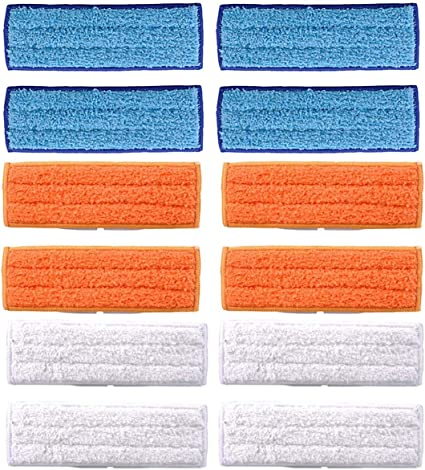 dry pad-White 10 Packs Washable Mopping Pads for iRobot Braava Jet 240//241