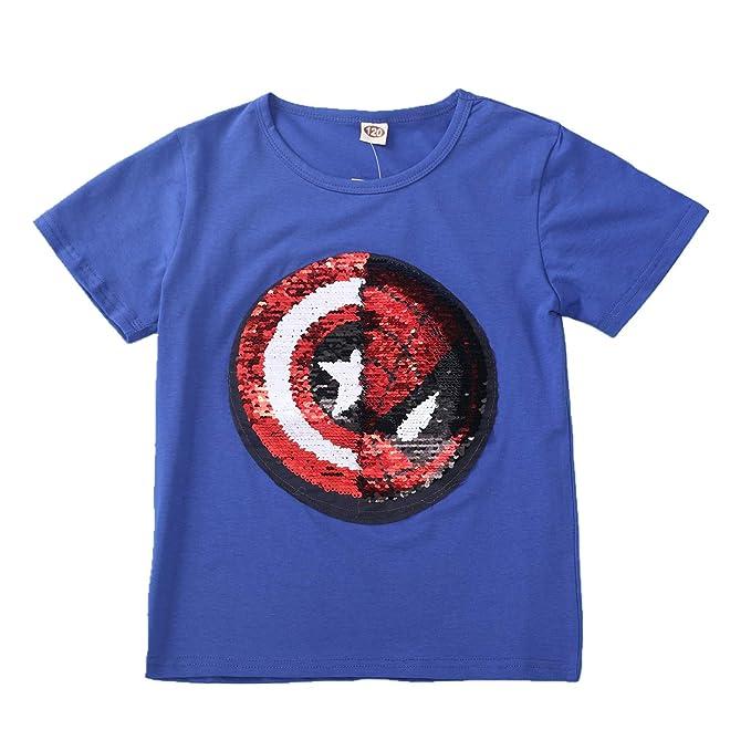 b2227a426 Lee little Angel 2018 Lentejuelas Infantiles de Ropa Infantil cambiarán el  patrón de Las Camisetas de algodón  Amazon.es  Ropa y accesorios