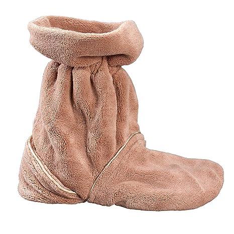 Wärmeschuhe für die Mikrowelle | Aufheizbare Hausschuhe | Idealer Fußwärmer im Winter | Beheizbare Socken & Fußheizung elektr