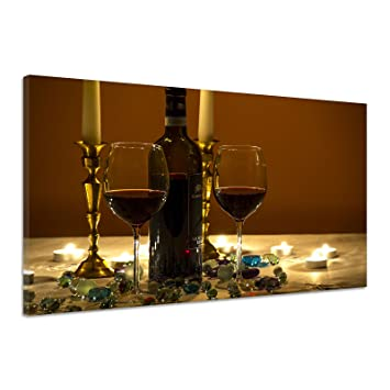 Amazonde Weingläser Dekoration Abend Lebensstil Kerzen Leinwand