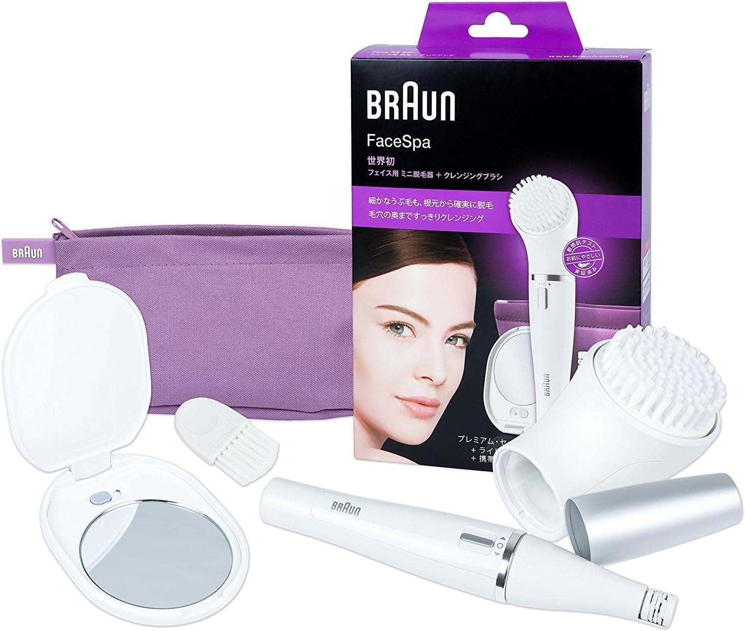 Braun Face (Edición Japón) 830 - Depiladora facial con cepillo de ...