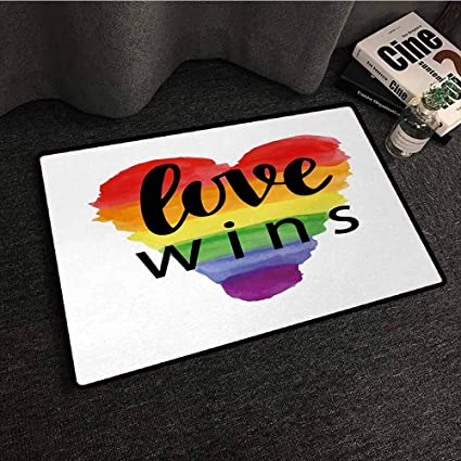 Amazon.com : DILITECK Washable Doormat Pride Inspirational ...
