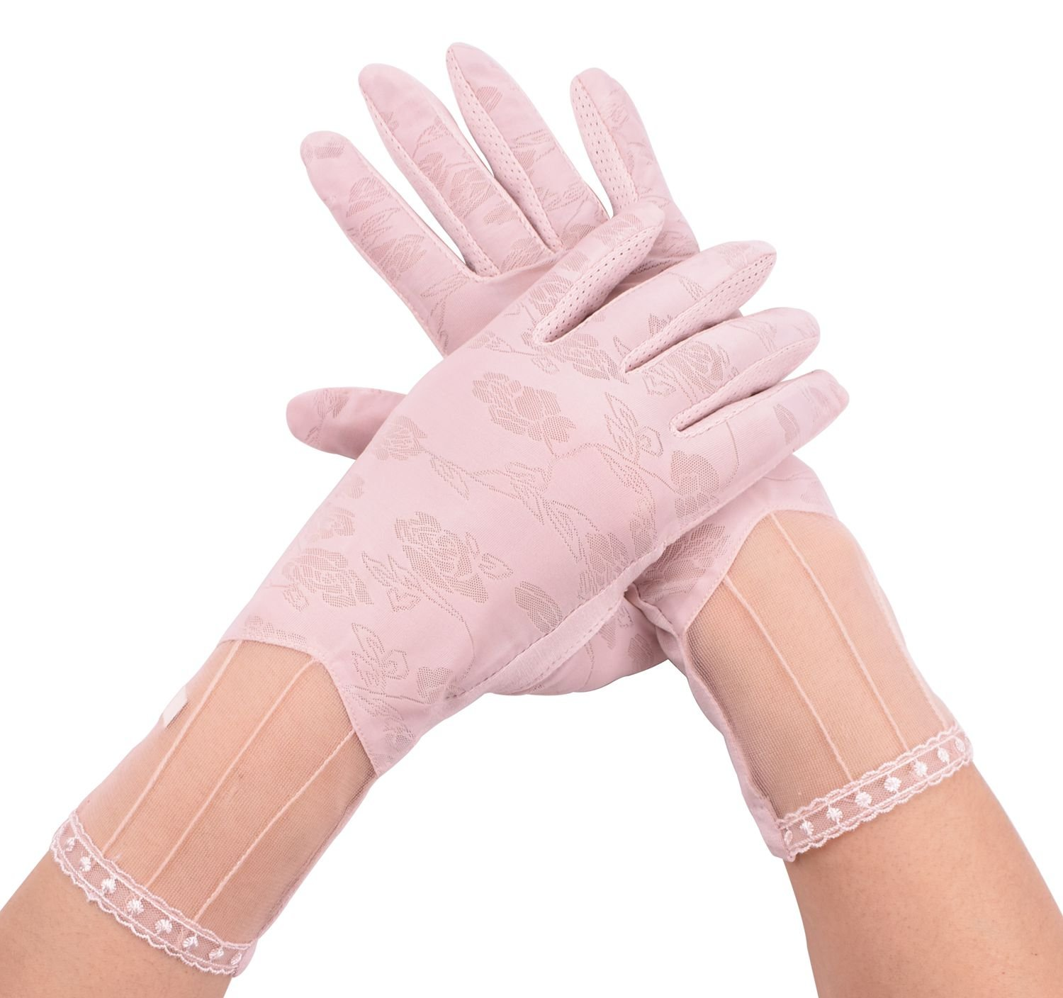 Slayco Women's Driving Gloves UV Protection Light Pink