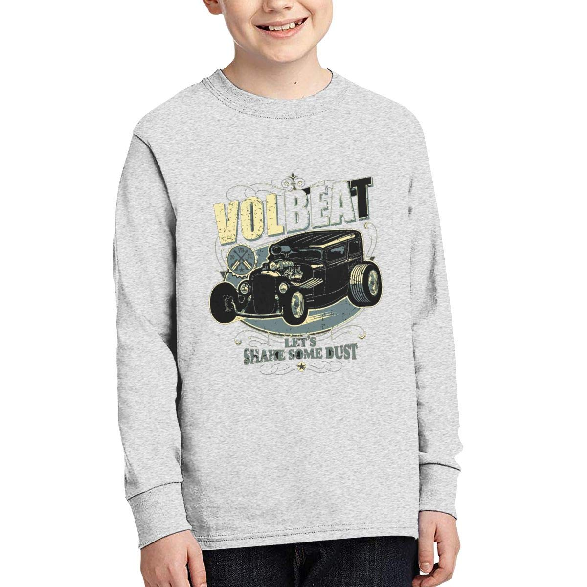 Volbeat Boys Fashion Classic Long Sleeve T-Shirt Boy Long Sleeve Cotton Round Neck T-Shirt
