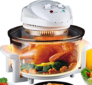 Electric Air Fryer Turbo Convection Oven Roaster Steamer,Halogen Oven Countertop Great for French Fries & Chips