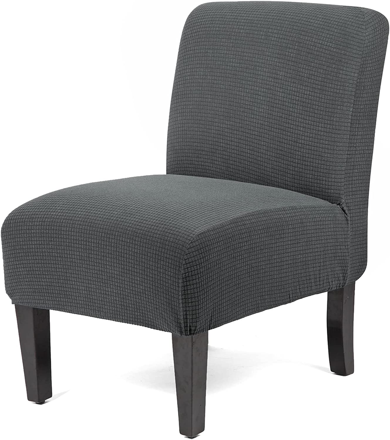 WOMACO Armless Accent Chair Slipcover Stretch Accent Slipper Chair Cover Removable Oversized Big Chair Furniture Protector Slip Cover for Home Hotel (Gray, 1)