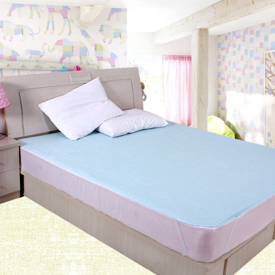 Buy Rite Clique Waterproof Double Bed Mattress Protector Sheet With