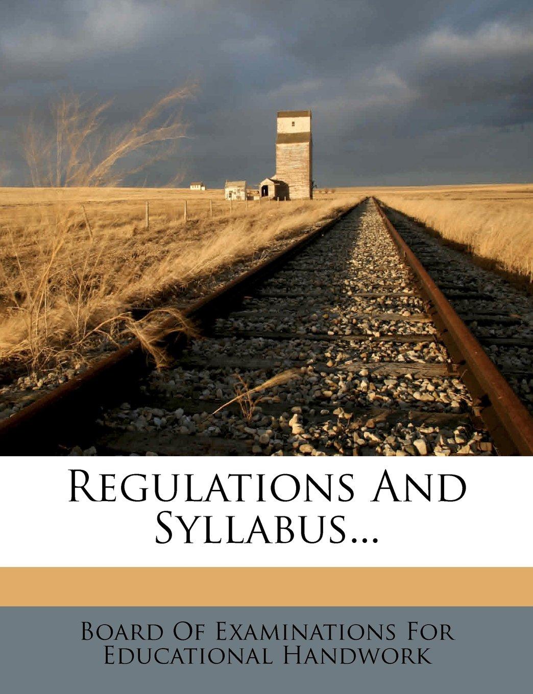 Regulations And Syllabus... ebook