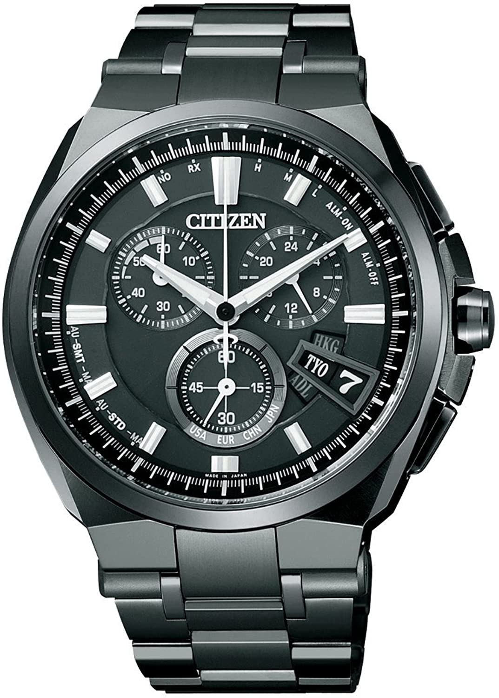 [シチズン]CITIZEN 腕時計 ATTESA アテッサ Eco-Drive エコドライブ 電波時計 ダイレクトフライト ディスク式 DLCモデル BY0044-77E メンズ B009YAEQDO
