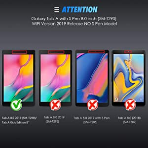 Screen Protector for Galaxy Tab A 8.0 (2019), [3 Pack] SPARIN Tempered Glass for Samsung Galaxy Tab A 8.0 (SM-T290 WiFi Version) Scratch Resistant/Easy to Install/Bubble Free (Color: Crystal Clear)