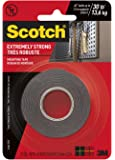 Scotch Extreme Mounting Tape, 1-inch X 60-inches, Black, 1-Roll (414P)