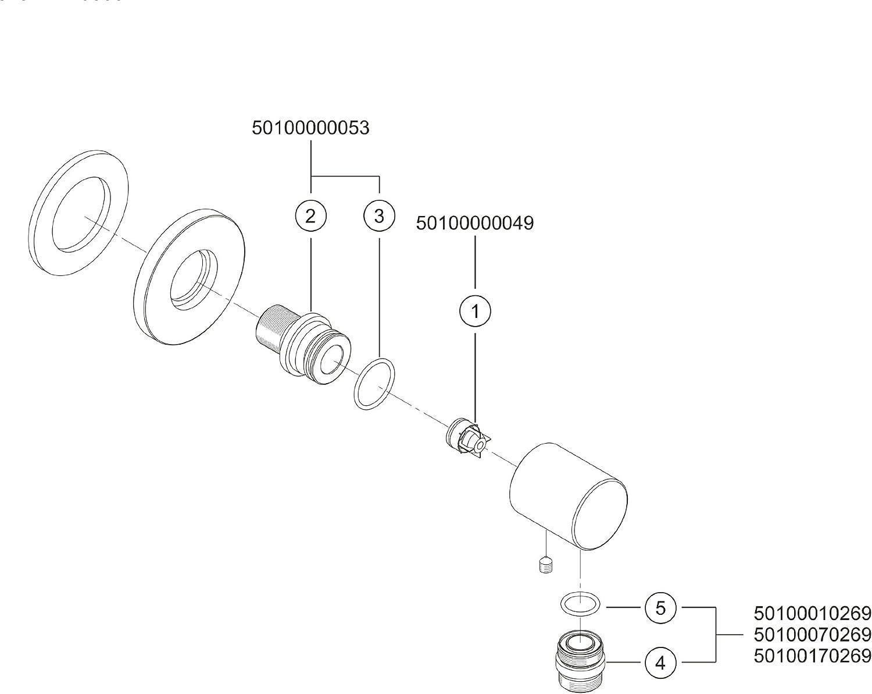Aluminium 54947170000 Keuco Schlauchanschluss Plan DN15