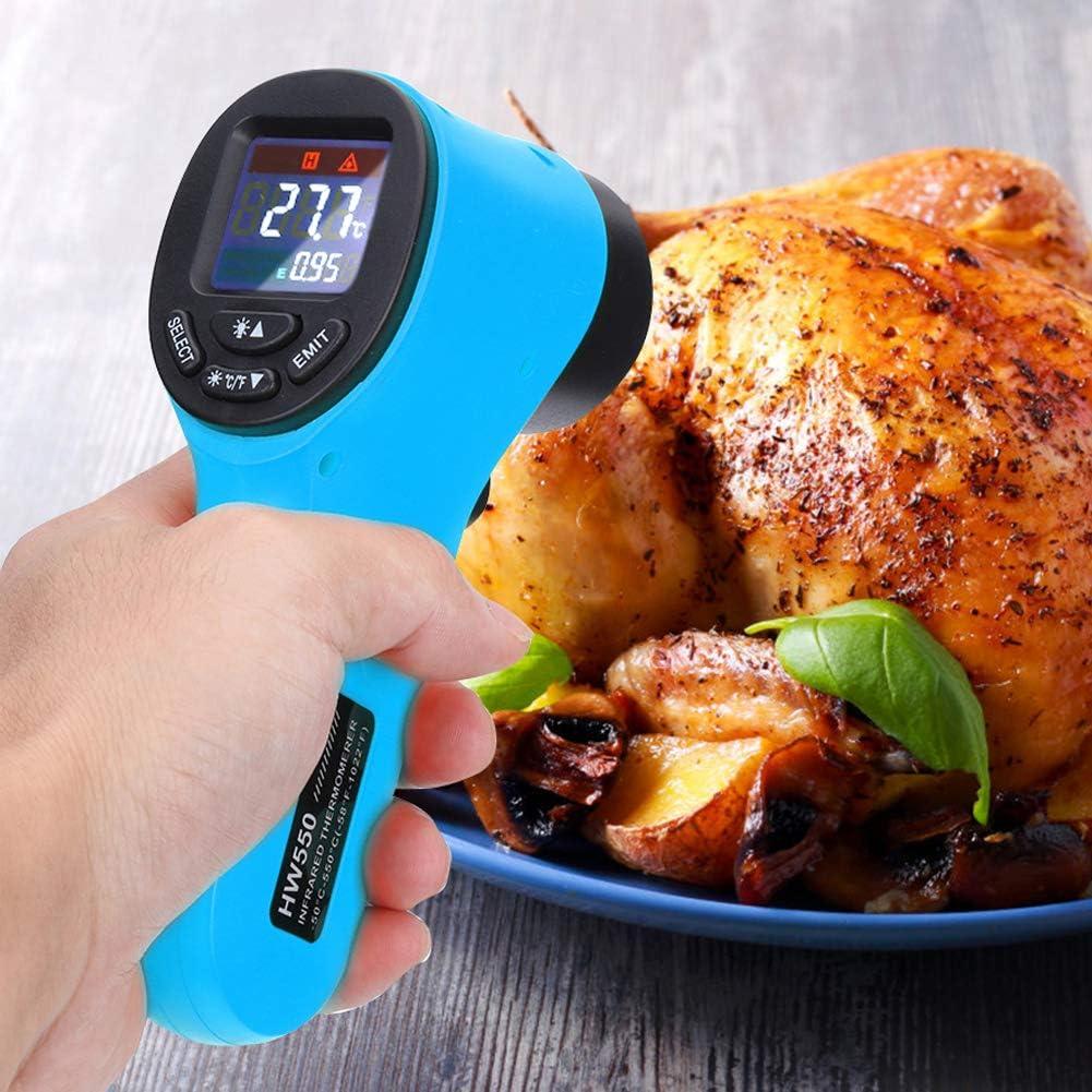 Sar546fgRob Digital Infrared Thermometer,Temperature Gun,HW550 Handheld Non-Contact Temperature Meter Tester Blue