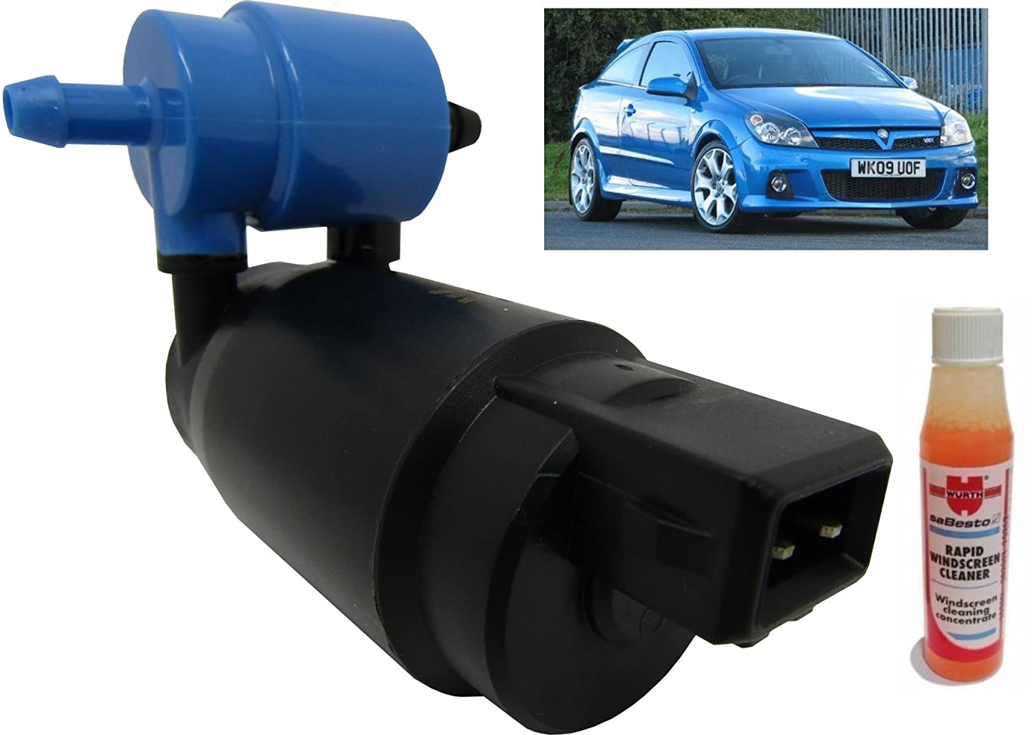 XtremeAuto/® Front /& Rear Windscreen Washer Pump Astra H Hatchback 0409 3 Door Screen Wash