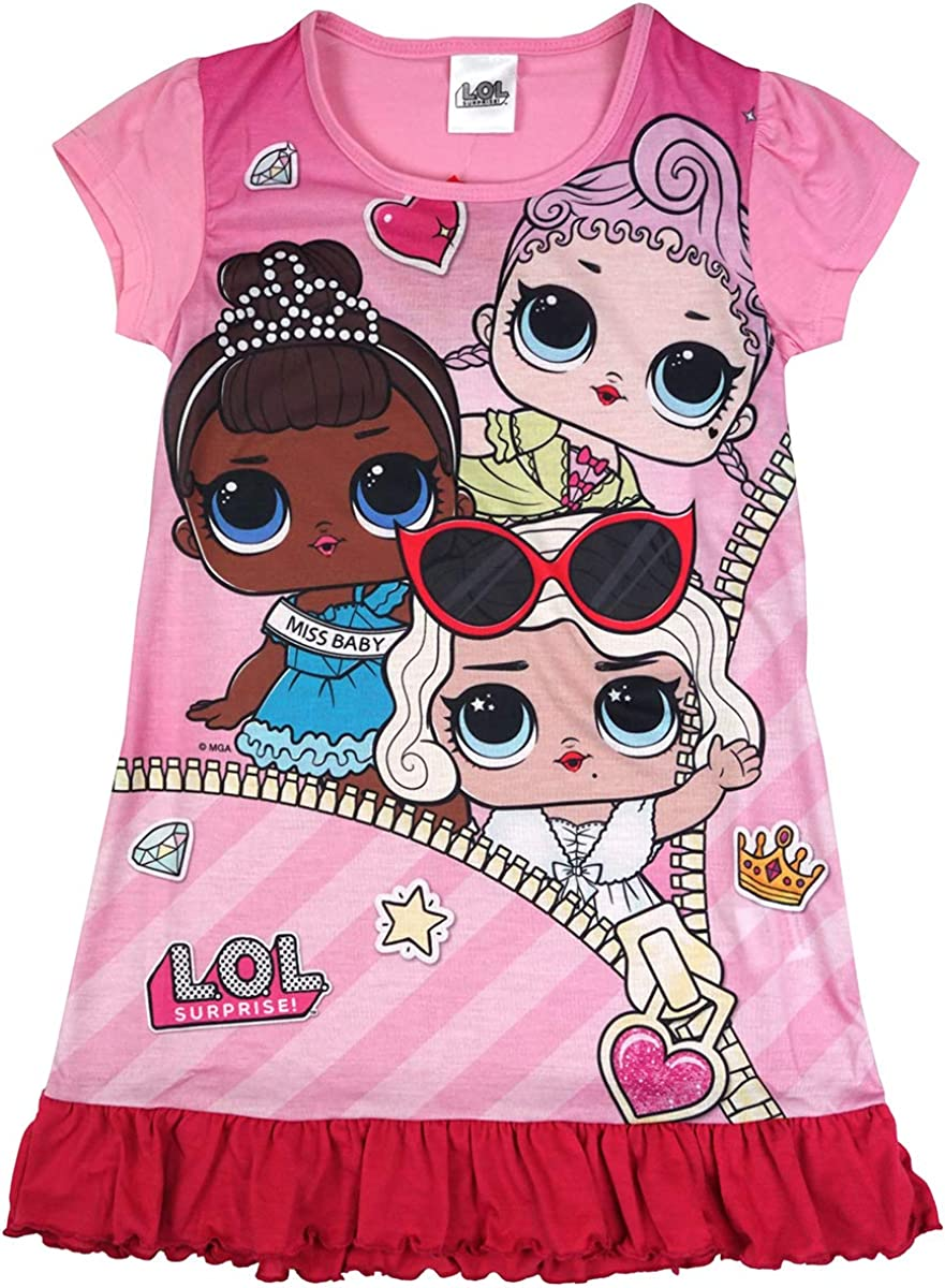 LOL Surprise Girls Miss Baby Highney Frill Hem Nightdress Nightie Sizes from 4 to 10 Years