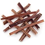 GigaBite by Best Pet Supplies, Inc. - USDA & FDA Certified All-Natural Odor Free Plain Skinny Beef Bully Stick Treats for Weight Watching Dogs, Smaller Breeds or Puppies