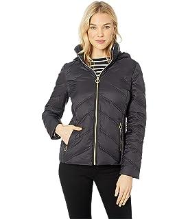 Michael Michael Kors Snap Front Rain Jacket M324064M Taupe