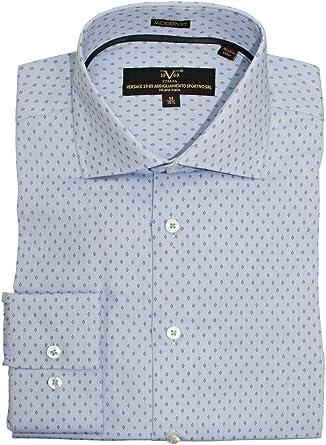 Versace 1969 moderno Fit Royal Oxford Camisa con diseño de ...