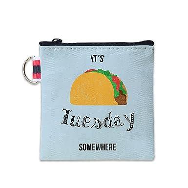 Amazon.com: Taco - Monedero de lona con cremallera pequeña ...