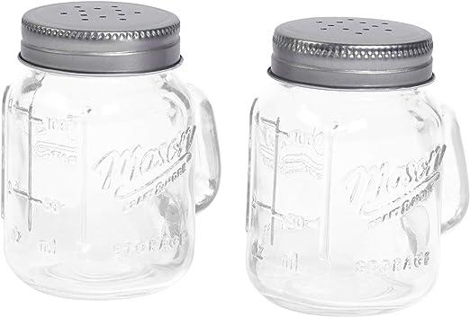White Glass Mason Jar Salt and Pepper Shakers Food Service ...