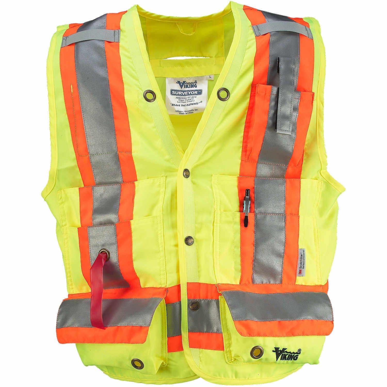 Viking Surveyor Hi-Vis Safety Vest, Green, Small