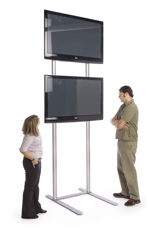 10足Tall 50 (2 ) 60-inchにフラット画面テレビのテレビスタンド、アルミニウム(シルバー)   B005R0C77C