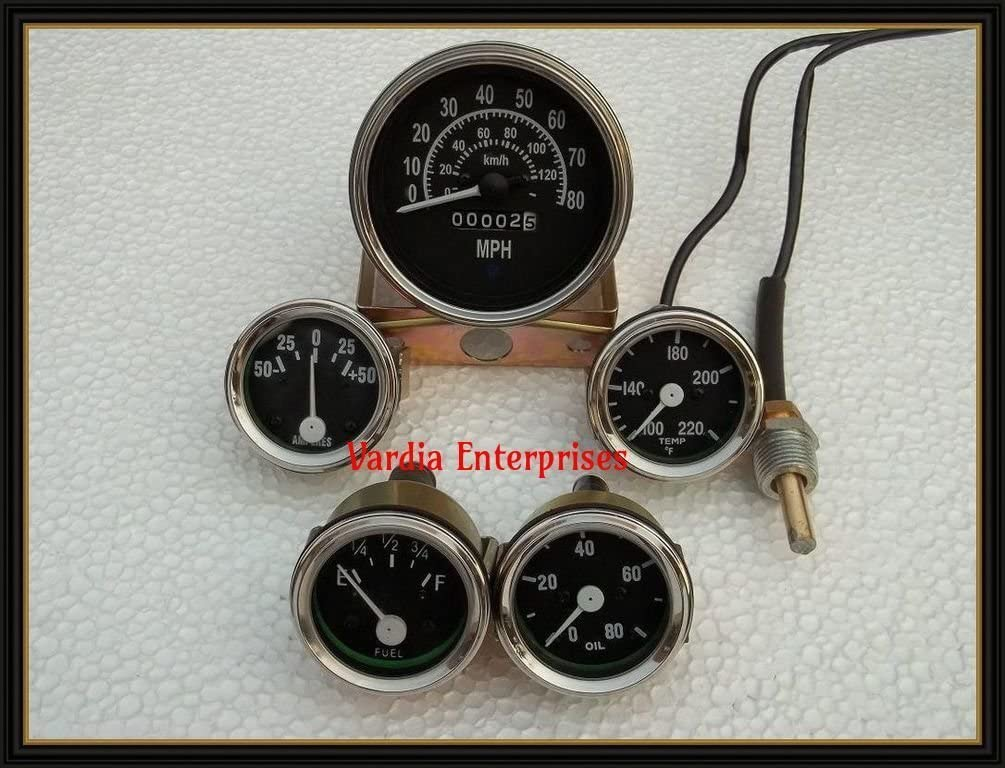 3B,M38 M38A1 Gauges Kit 3A JEEP Willys Speedometer 12 V fits 1946-66 CJ-2A