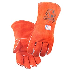 """Black Stallion 101A Premium Cowhide Stick Welding Gloves 16"""" Length MADE IN USA, X-Large"""