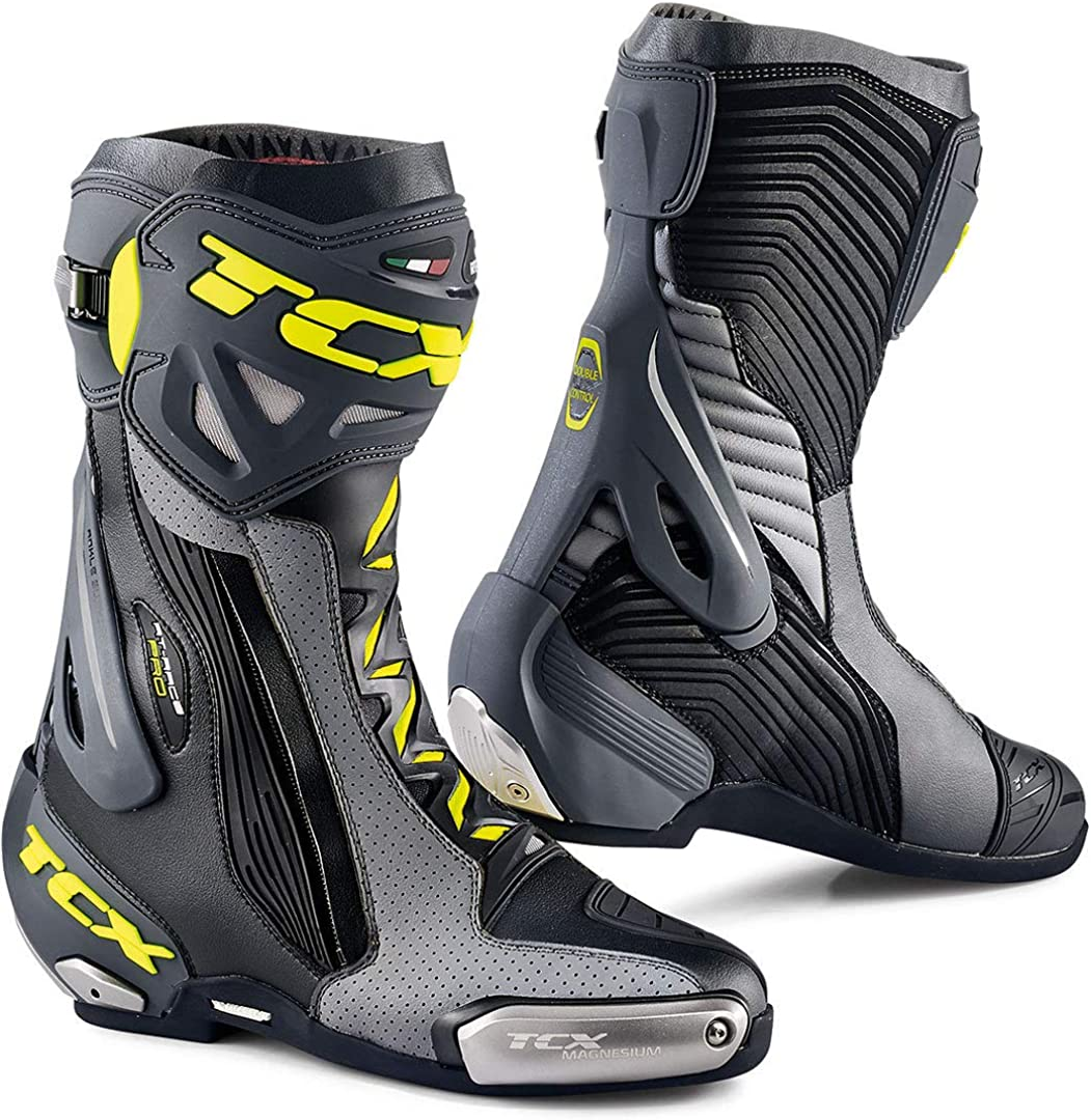 TCX Mens NC Motorcycle Boots Black Yellow