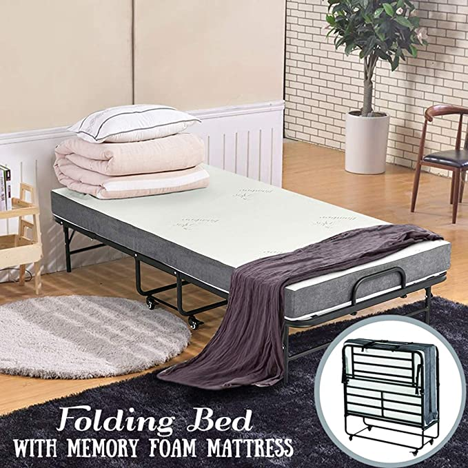 Erommy Folding Bed With Super Strong Sturdy Frame
