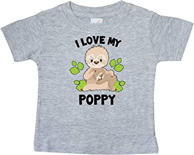 inktastic Cute Sloth I Love My Glamma with Green Leaves Baby T-Shirt