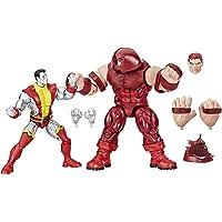 Marvel Legends Series - Colossus vs. Juggernaut- Dúo de figuras de acción coleccionables y vintage, inspiradas en las historietas, en conmemoración del 80 aniversario, de 15 cm