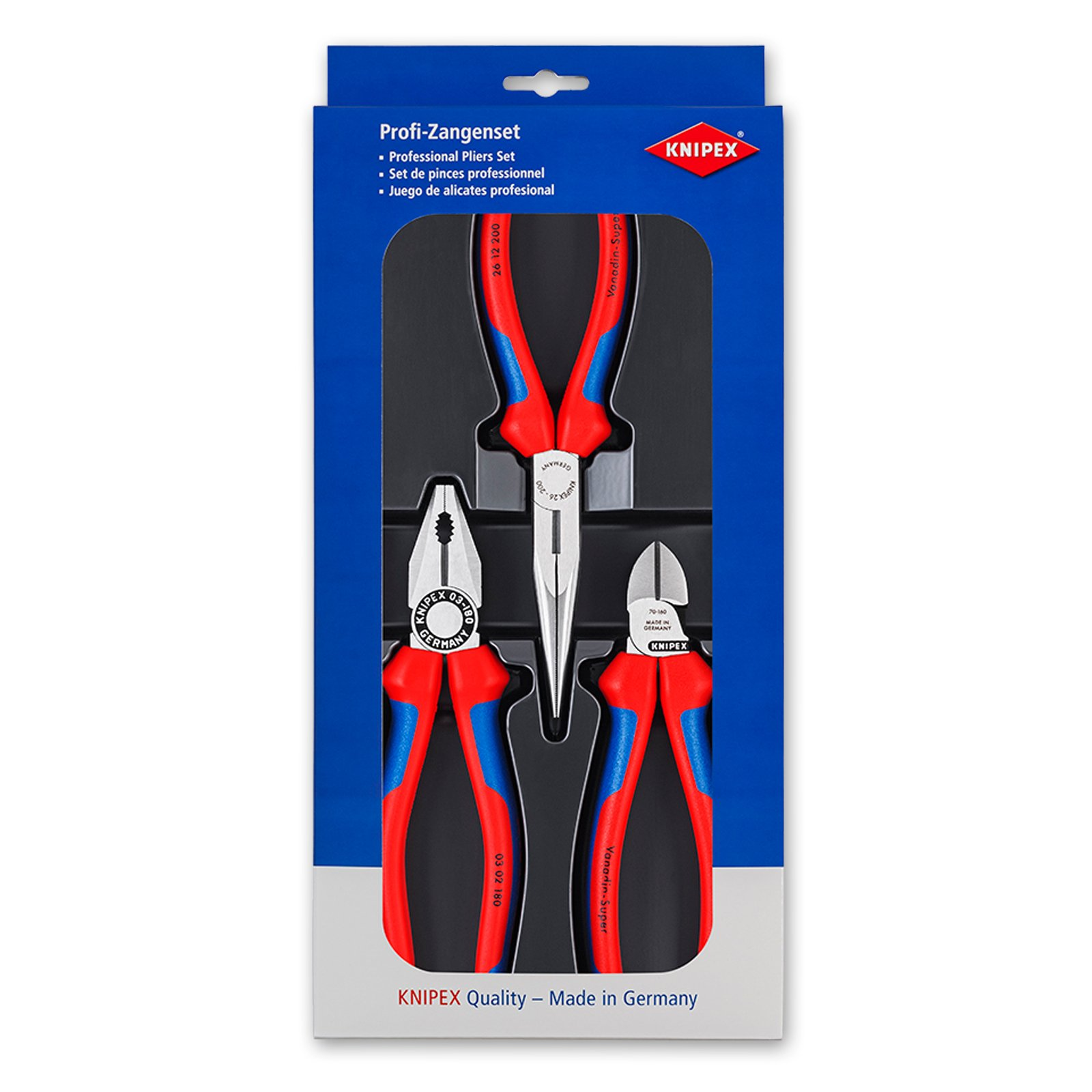 Knipex 00 20 11''Assembly'' Pliers Set (3 Piece) by KNIPEX Tools