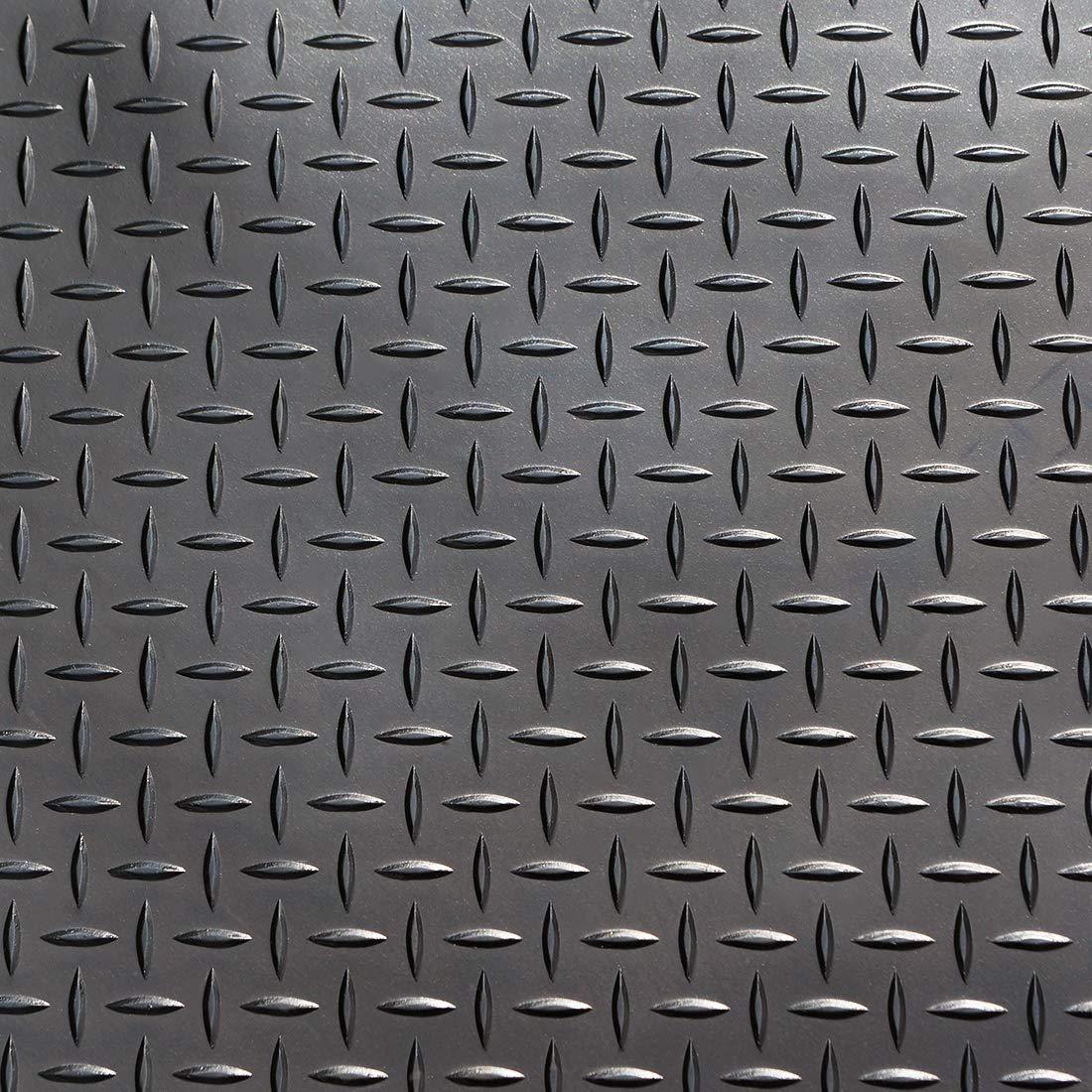 Farbe: schwarz 1,50m x 4,00m 6m/² Riffelmatte St/ärke: 3 mm