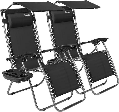 Bonnlo 2 PCS Zero Gravity Chair