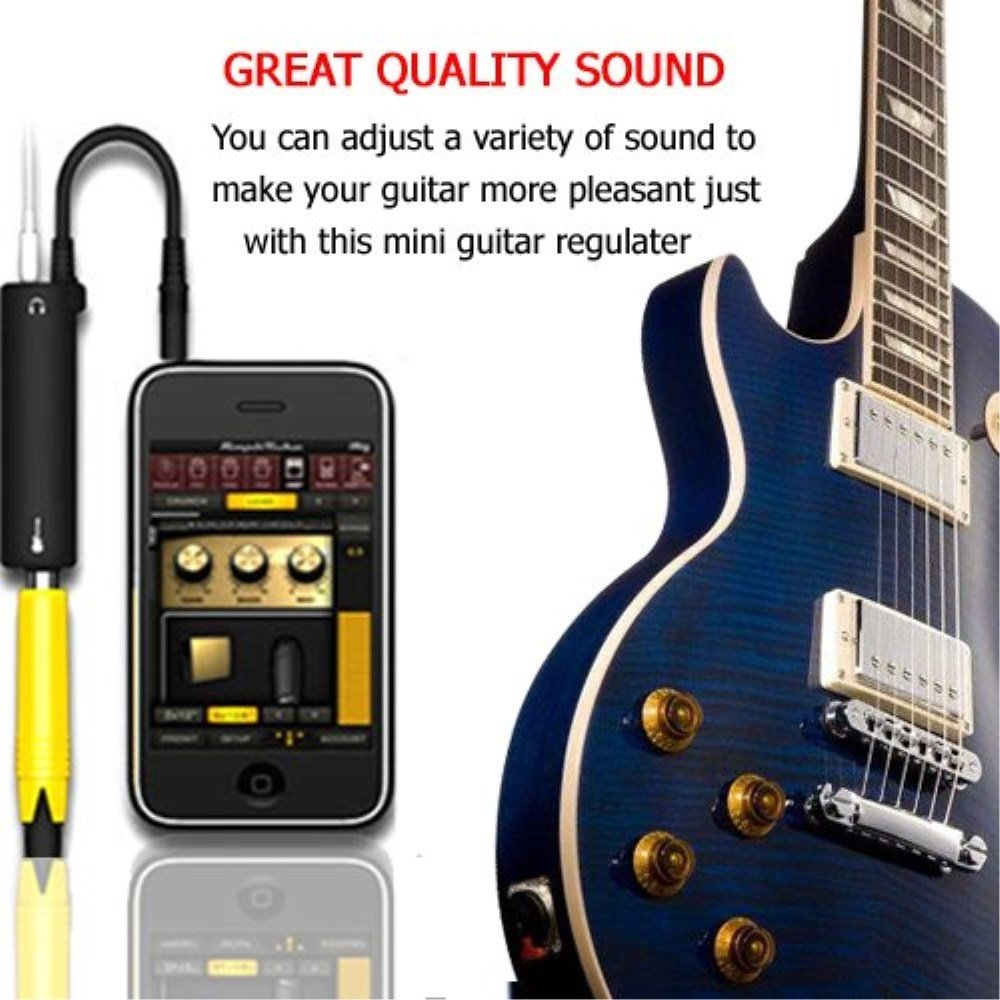 Enlace de conversión de adaptador de interfaz de efectos de guitarra para iPhone, iPad, iPod touch: Amazon.es: Instrumentos musicales